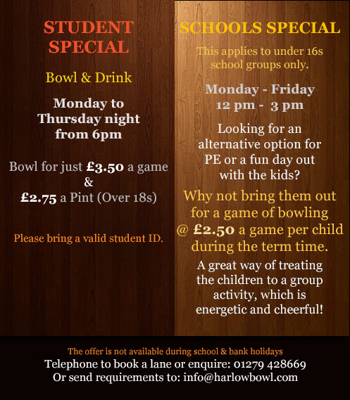 harlow bowl school deals